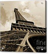 Eiffel Tower Paris France Black And White Acrylic Print