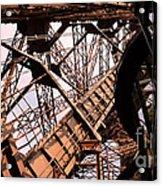 Eiffel Tower Paris France Close Up Acrylic Print