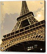 Eiffel Tower Paris France Sepia Acrylic Print by Patricia Awapara