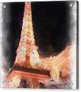 Eiffel Tower Paris Las Vegas Photo Art Acrylic Print