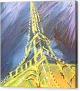 Eiffel Tower Paris Night Acrylic Print