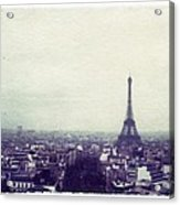 Eiffel Tower Paris Polaroid Transfer Acrylic Print by Jane Linders