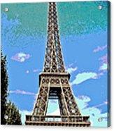 Eiffel Tower Posterized Acrylic Print