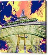 Eiffel Tower Psycho Version Acrylic Print