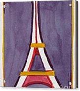 Eiffel Tower Purple Red Acrylic Print