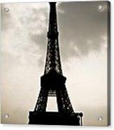 Eiffel Tower Silhouette Acrylic Print by Nila Newsom