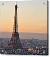 Eiffel Tower Sunrise Acrylic Print