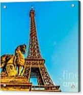 Eiffel Tower With Horse Acrylic Print