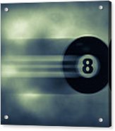 Eight Ball In Motion Acrylic Print
