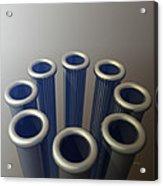 Eight Metallic Tubes Acrylic Print