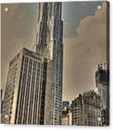 Eight Spruce Street By Gehry Acrylic Print