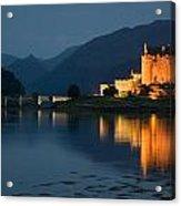 Eilean Donan Castle At Night Acrylic Print