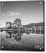 Eilean Donan Castle Black And White Acrylic Print