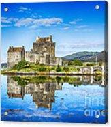 Eilean Donan Castle Reflections 2 Acrylic Print