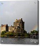 Eilean Donan With A Rainbow Acrylic Print