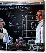 Einstein/carver Experiments Acrylic Print by Sidney Holmes