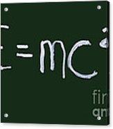 Einstein Formula Acrylic Print