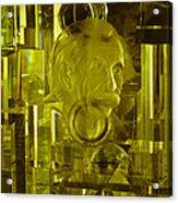 Einstein In Crystal - Yellow Acrylic Print
