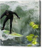 Eisbach Surfing Acrylic Print
