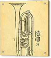 Eisenbrandt Cornet Patent Art 1854 Acrylic Print