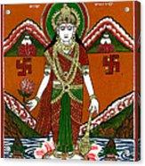 Ek Darshi Mata Vishnu Avatar Acrylic Print by Ashok Kumar