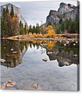 El Capitan Reflected In The Merced River Acrylic Print