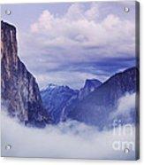 El Capitan Rises Above The Clouds Acrylic Print
