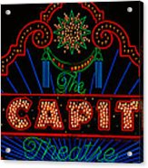 El Capitan Theatre Sign In Hollywood Acrylic Print