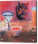 El Chico Mask Acrylic Print