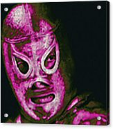 El Santo The Masked Wrestler 20130218m68 Acrylic Print by Wingsdomain Art and Photography