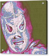 El Santo The Masked Wrestler 20130218v2m168 Acrylic Print by Wingsdomain Art and Photography