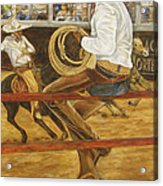 El Vaquero Que Ata Acrylic Print