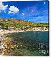 Elba Island - Beach In Seccheto  Acrylic Print
