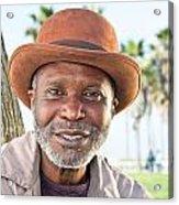 Elderly Black Man Smiling Acrylic Print