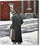 Elderly Gentleman  In Pointe St. Charles Acrylic Print