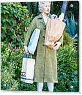 Elderly Shopper Statue Key West Acrylic Print