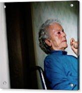 Elderly Woman Sitting In A Wheel Chair Acrylic Print