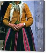 Elderly Woman Stylized Digital Art Acrylic Print