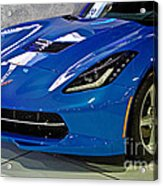 Electric Blue Corvette Acrylic Print