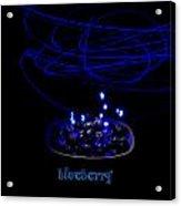 Electric Blueberry Acrylic Print