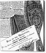 Electric Brushes, 1882 Acrylic Print