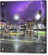 Electric Detroit  Acrylic Print by Nicholas  Grunas