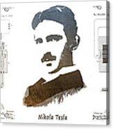 electric generator patent art Nikola Tesla Acrylic Print