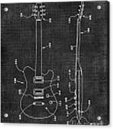 Electric Guitar Patent 039 Acrylic Print
