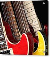 Electric Guitars Closeup Acrylic Print