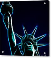 Electric Liberty Acrylic Print