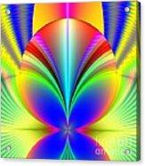 Electric Rainbow Orb Fractal Acrylic Print