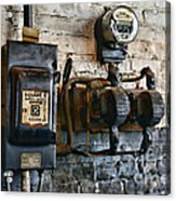 Electrical Energy Safety Switch Acrylic Print by Paul Ward