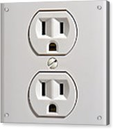 Electrical Outlet Acrylic Print by Olivier Le Queinec