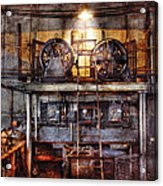 Electrician - Turbine Station Acrylic Print by Mike Savad